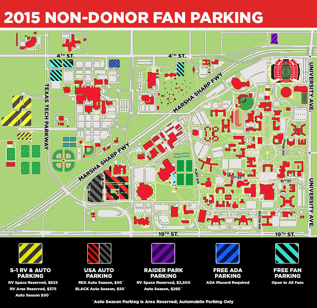 Texas Tech Parking Map | Business Ideas 2013