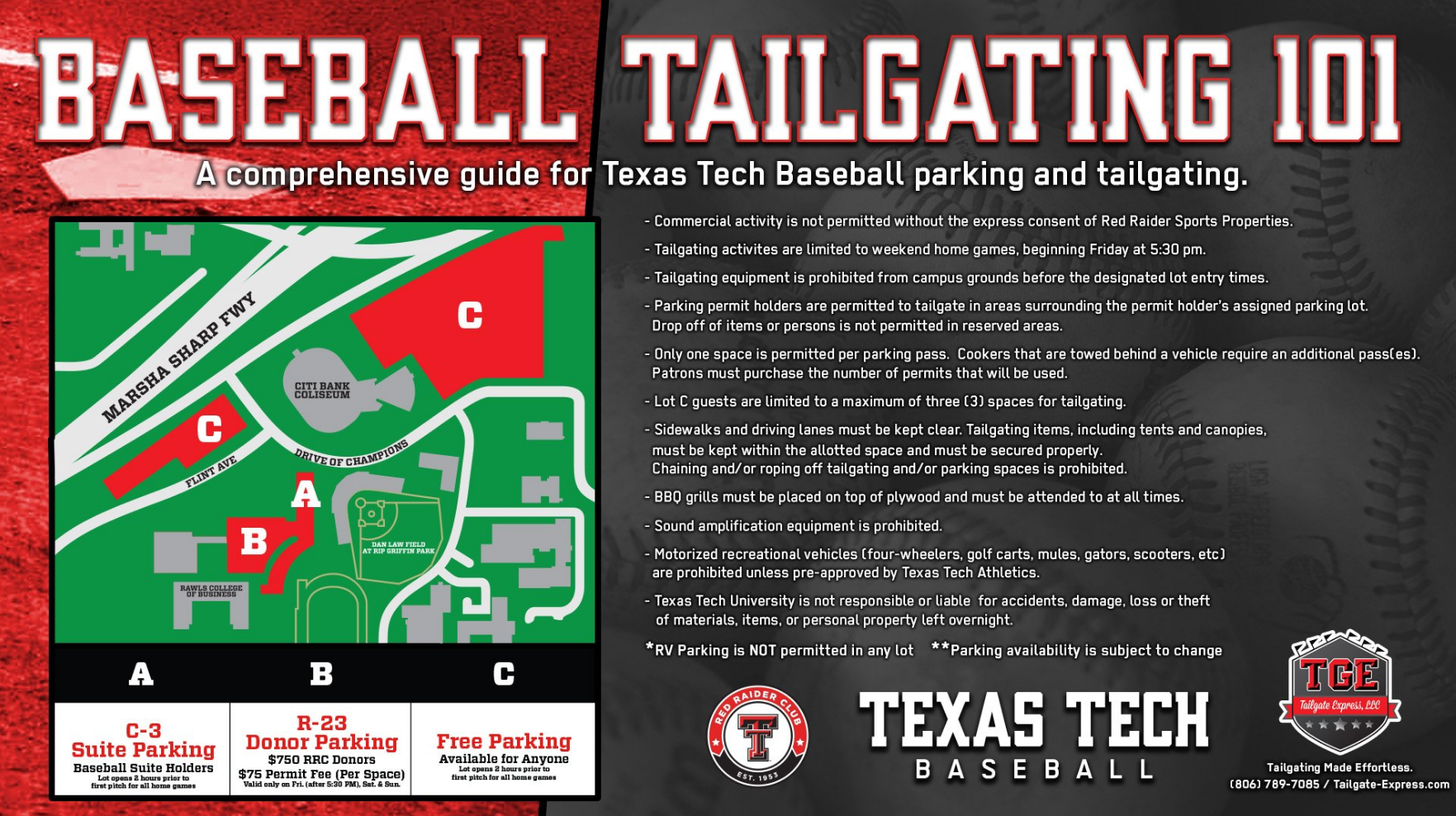Baseball Parking & Tailgating Regulations Announced - Texas Tech ...