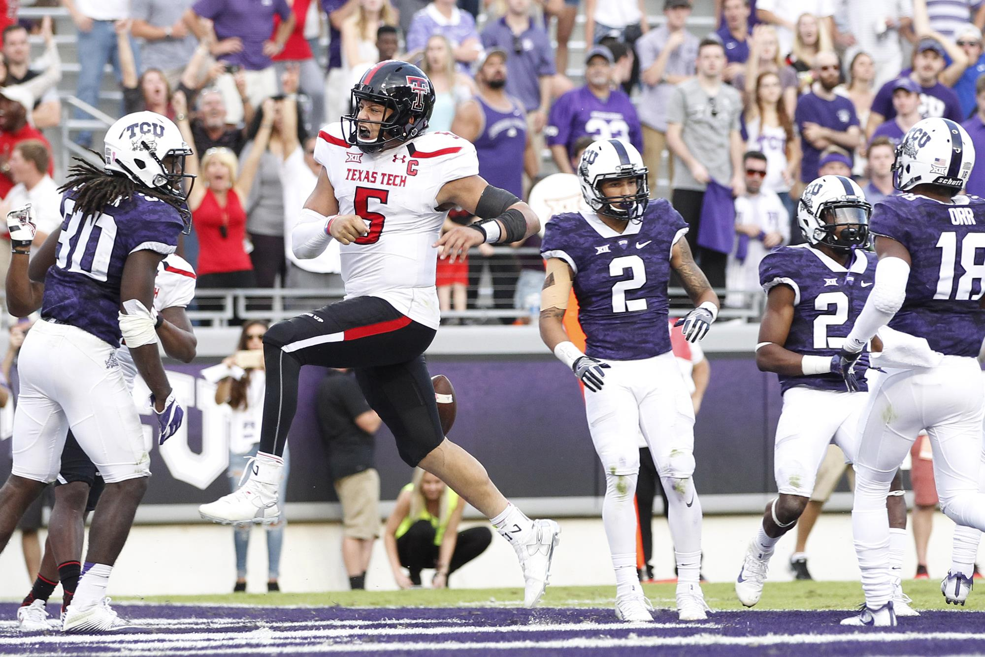 Late Field Goal Lifts Texas Tech Over Tcu In 2ot Texas Tech Red Raiders