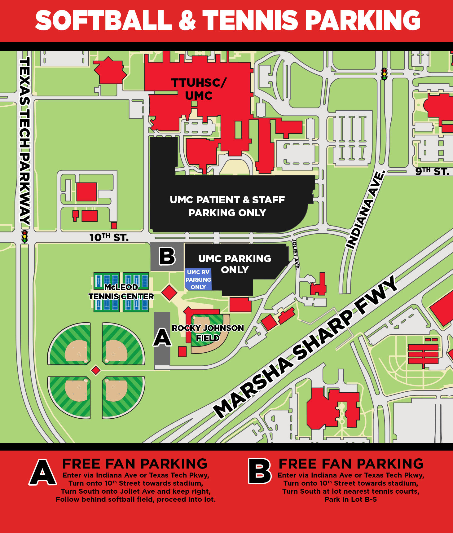 Softball Parking Information - Texas Tech University - Texas Tech ...