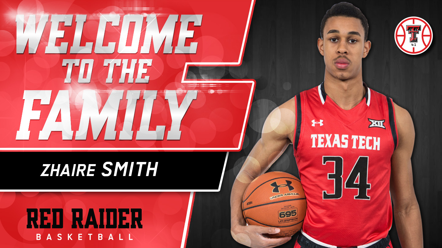 men's basketball signs zhaire smith to nli - texas tech university