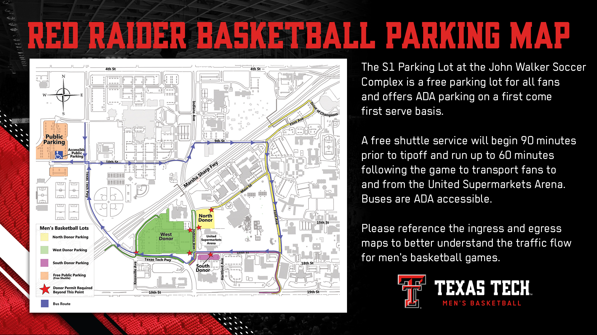 Red Raider Basketball Parking & Transportation Info - Texas Tech ...