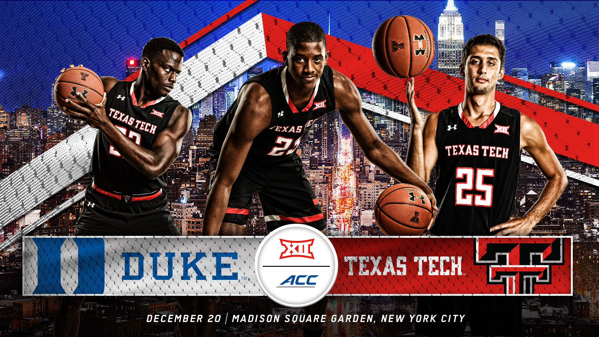 men's basketball to meet duke in nyc - texas tech university athletics