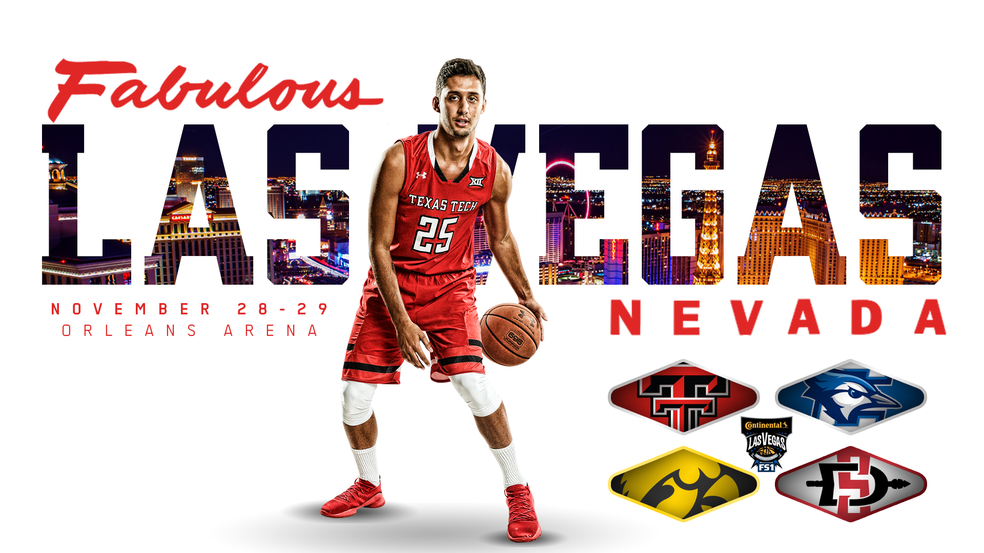 Red Raiders To Play In Continental Tire Las Vegas