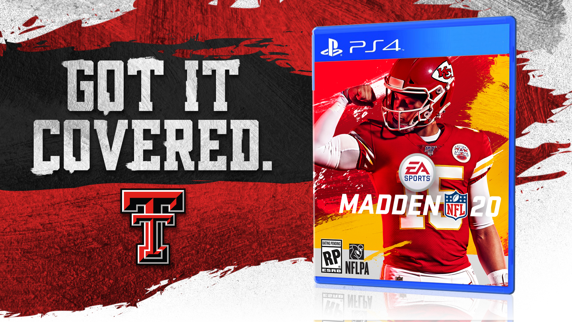 Mahomes Featured on EA Sports Madden 20 Cover - Texas Tech
