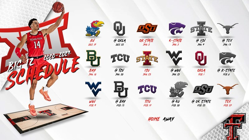 Big 12 Men's Basketball Schedule Announced   Texas Tech Red Raiders