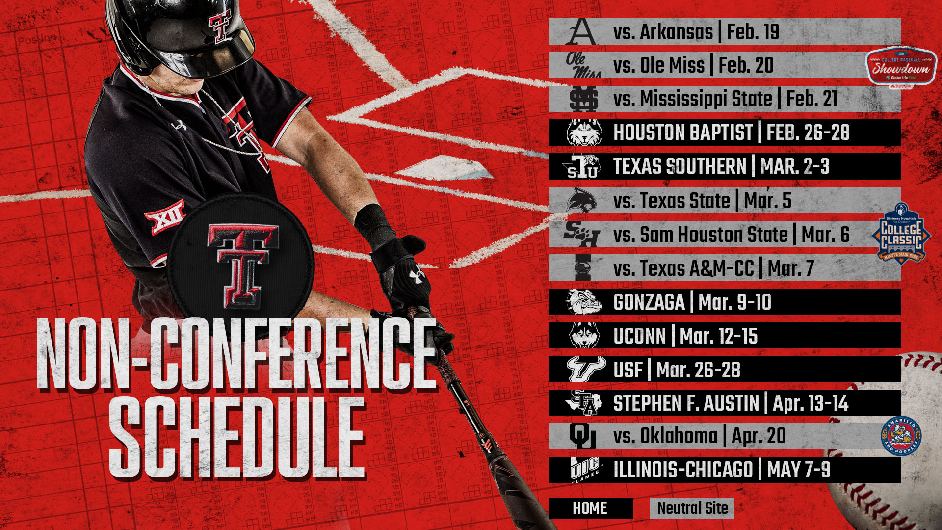 Non Conference Schedule Announced   Texas Tech Red Raiders